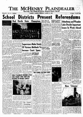 McHenry Plaindealer (McHenry, IL), 15 Aug 1963