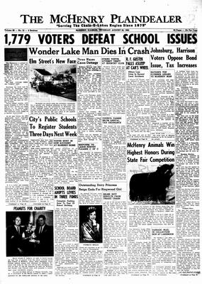 McHenry Plaindealer (McHenry, IL), 22 Aug 1963
