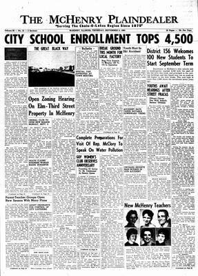 McHenry Plaindealer (McHenry, IL), 5 Sep 1963
