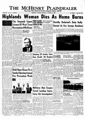 McHenry Plaindealer (McHenry, IL), 3 Oct 1963