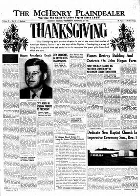 McHenry Plaindealer (McHenry, IL), 27 Nov 1963