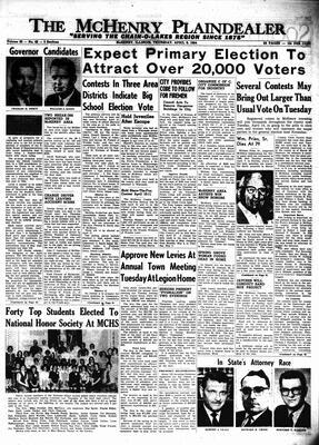 McHenry Plaindealer (McHenry, IL), 9 Apr 1964