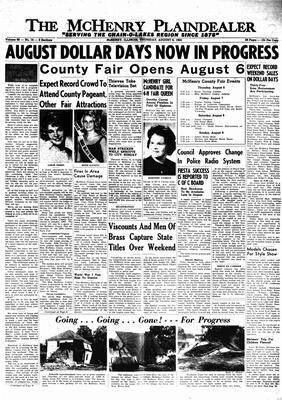 McHenry Plaindealer (McHenry, IL), 6 Aug 1964