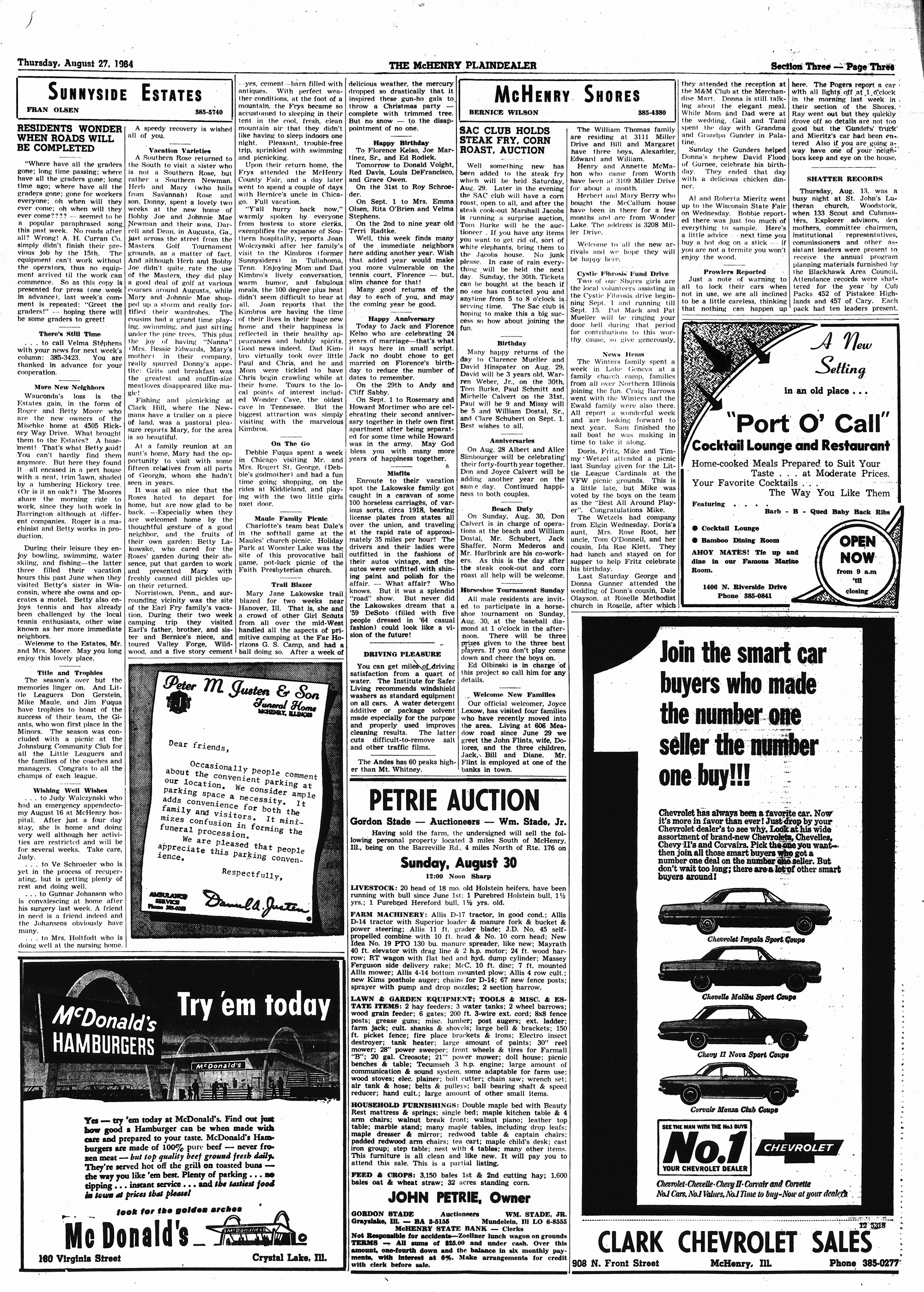 McHenry Plaindealer (McHenry, IL), 27 Aug 1964
