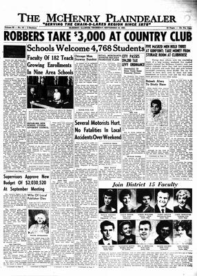 McHenry Plaindealer (McHenry, IL), 10 Sep 1964