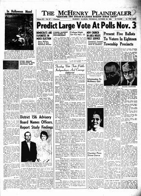 McHenry Plaindealer (McHenry, IL), 29 Oct 1964
