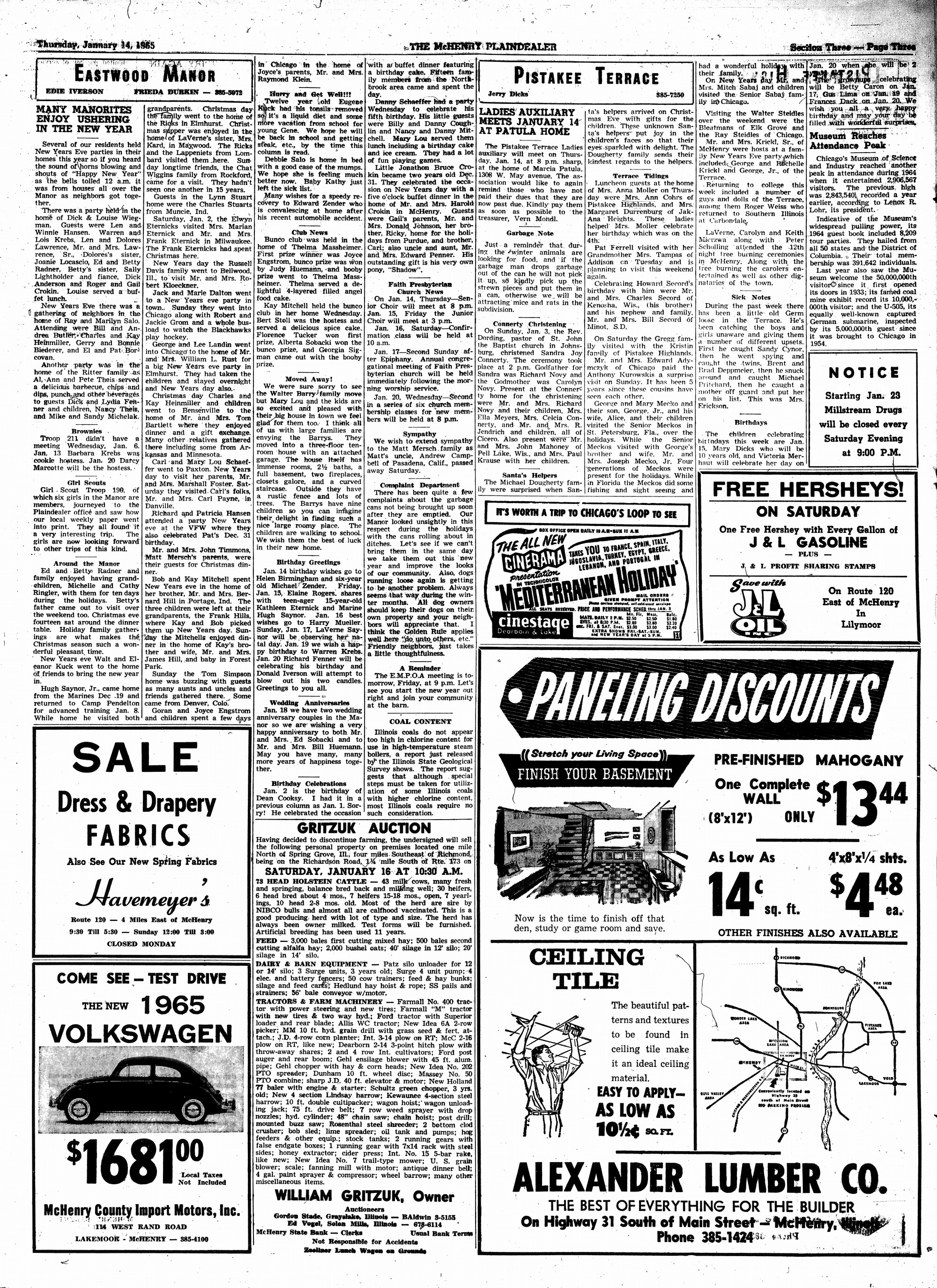 McHenry Plaindealer (McHenry, IL), 14 Jan 1965