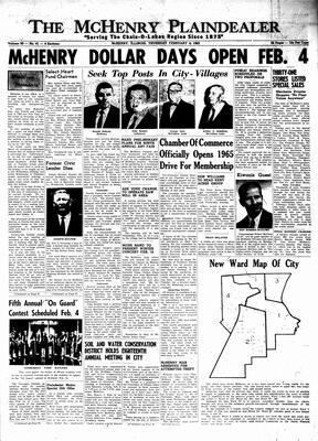 McHenry Plaindealer (McHenry, IL), 4 Feb 1965