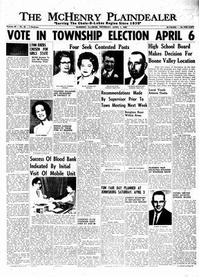 McHenry Plaindealer (McHenry, IL), 1 Apr 1965