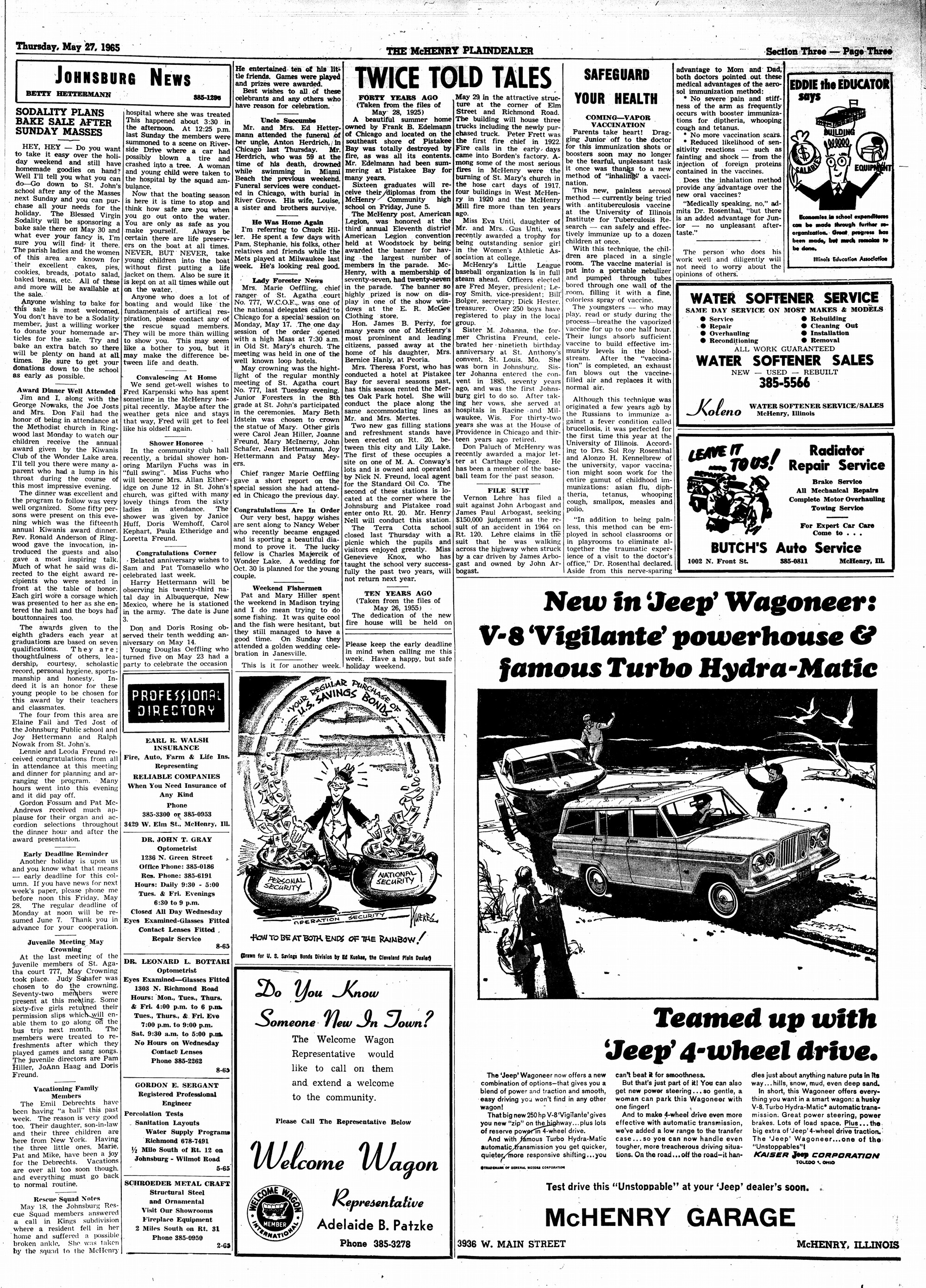 McHenry Plaindealer (McHenry, IL), 27 May 1965