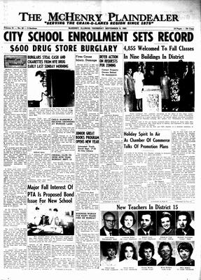 McHenry Plaindealer (McHenry, IL), 9 Sep 1965