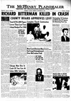 McHenry Plaindealer (McHenry, IL), 16 Sep 1965