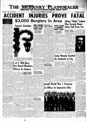 McHenry Plaindealer (McHenry, IL), 9 Dec 1965