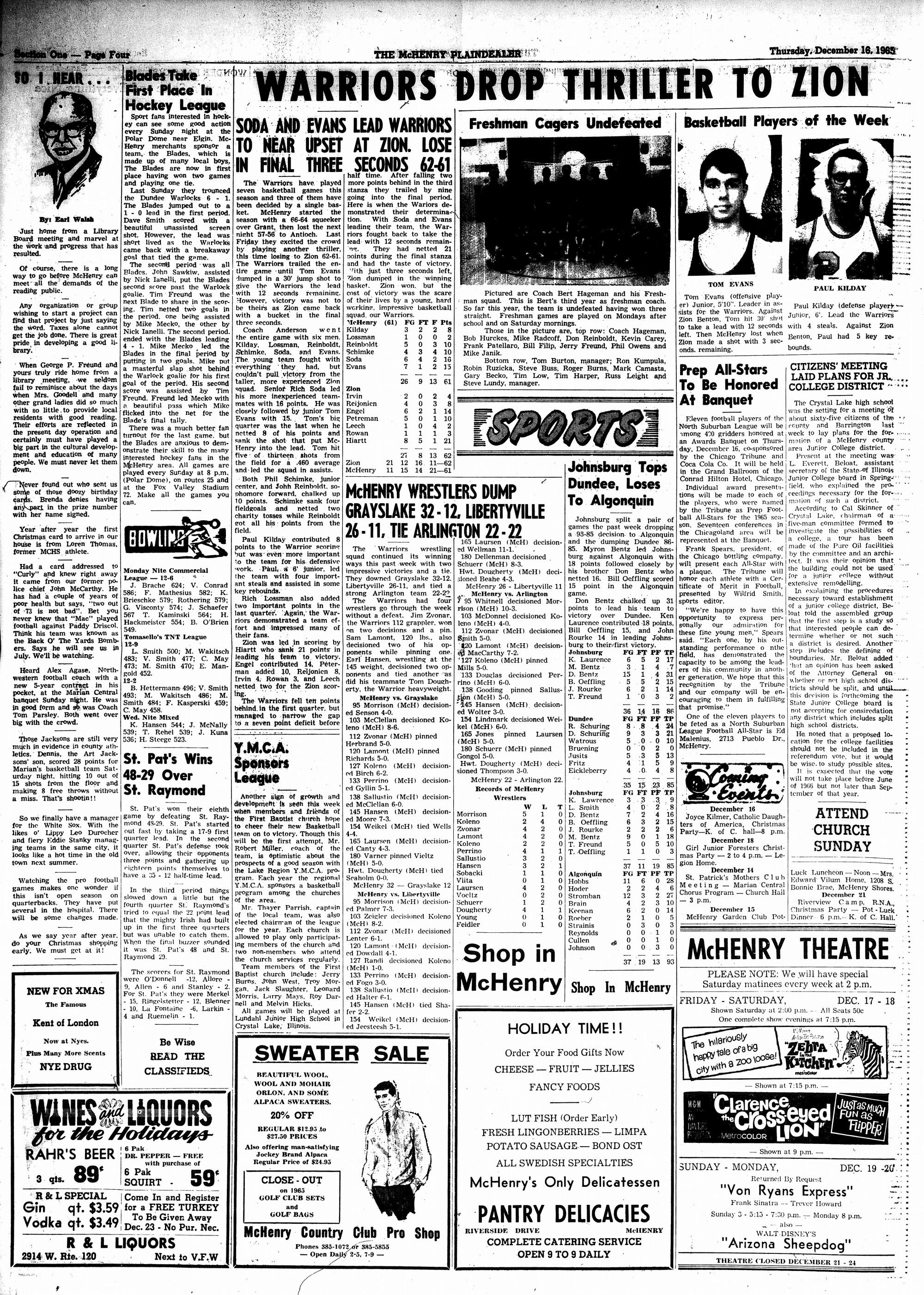 McHenry Plaindealer (McHenry, IL), 16 Dec 1965