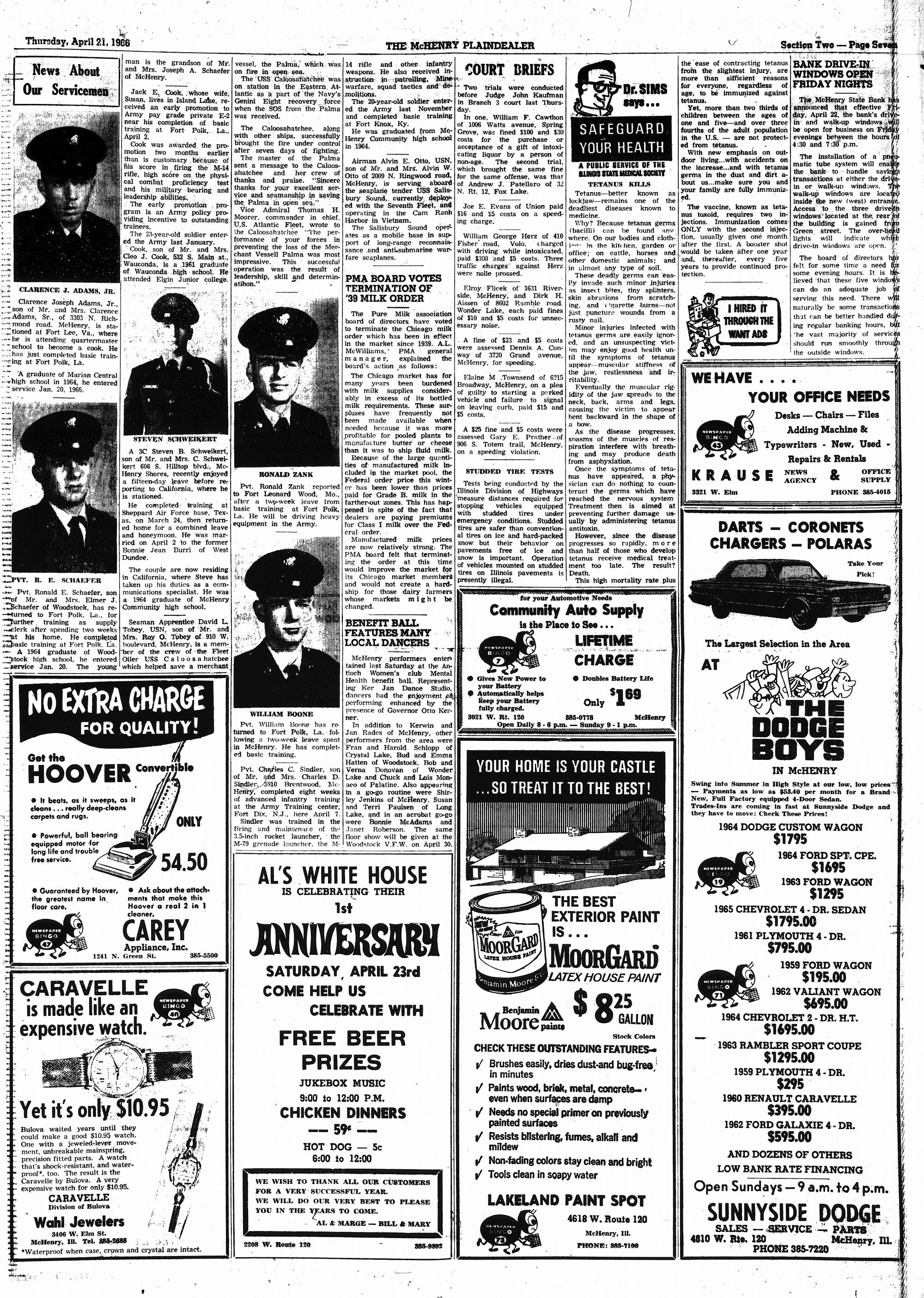 McHenry Plaindealer (McHenry, IL), 21 Apr 1966