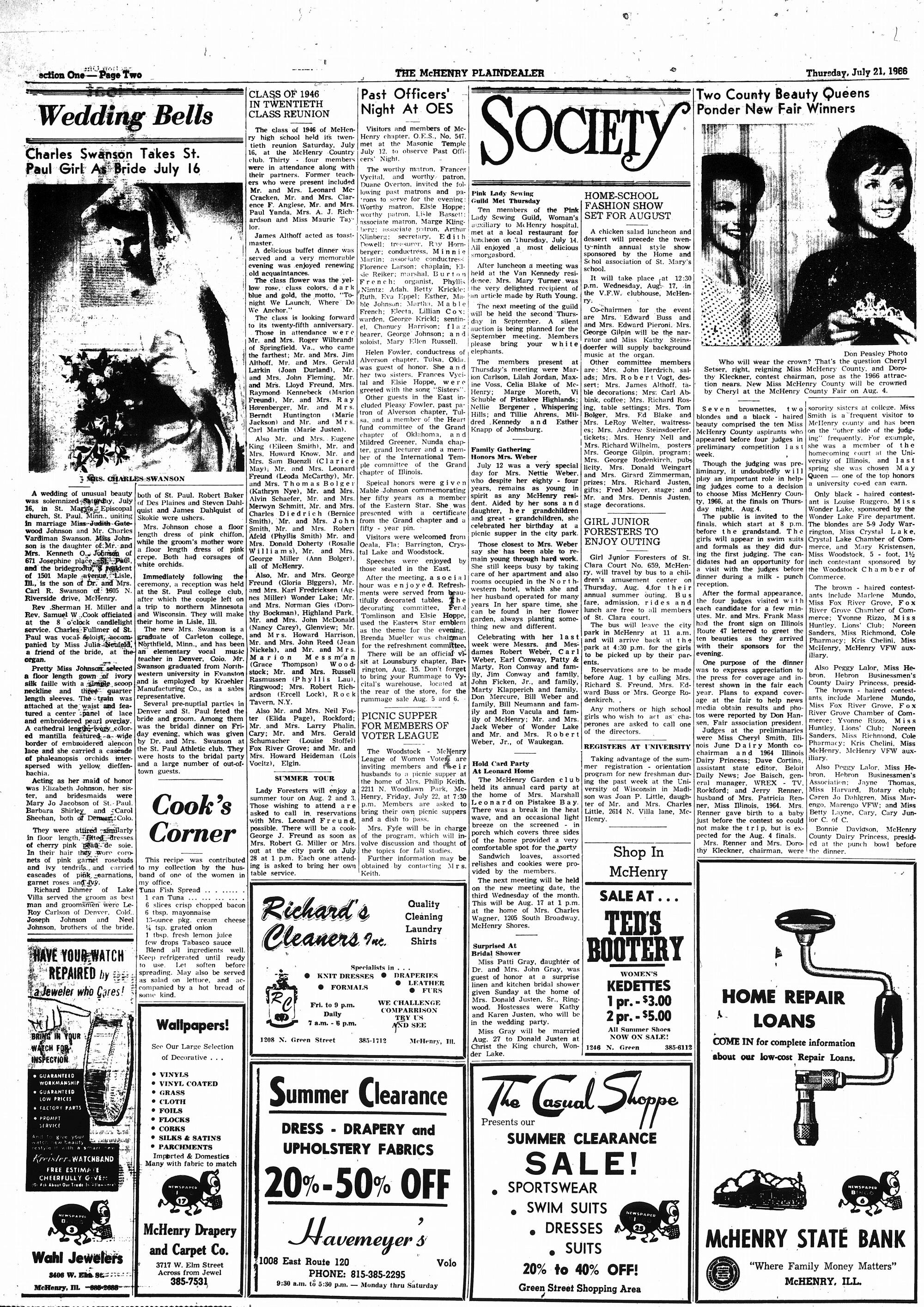 McHenry Plaindealer (McHenry, IL), 21 Jul 1966