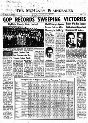 McHenry Plaindealer (McHenry, IL), 10 Nov 1966