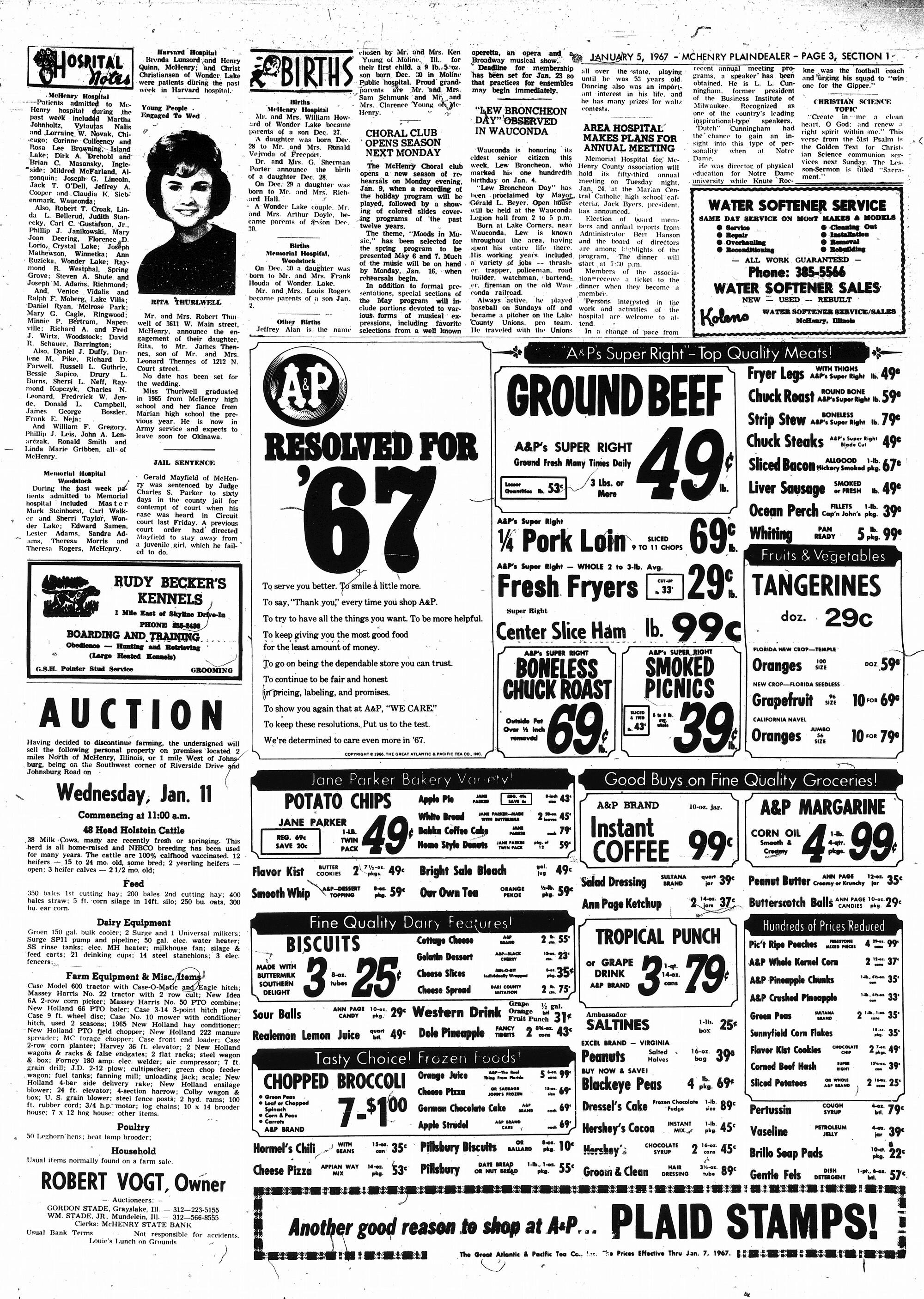 McHenry Plaindealer (McHenry, IL), 5 Jan 1967