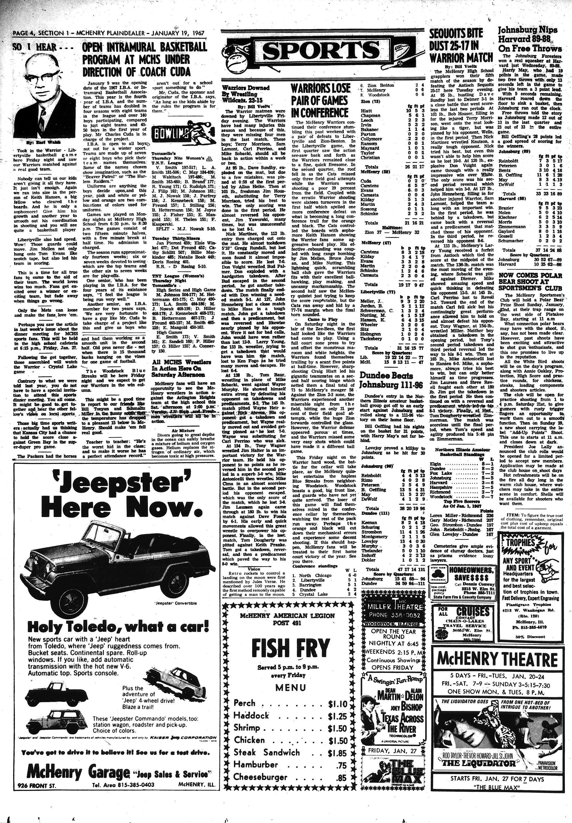 McHenry Plaindealer (McHenry, IL), 19 Jan 1967