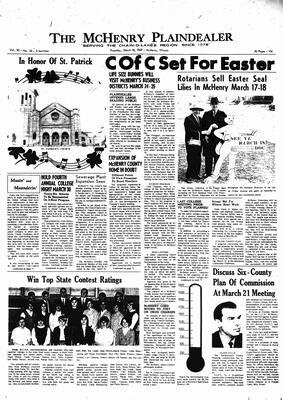 McHenry Plaindealer (McHenry, IL), 16 Mar 1967