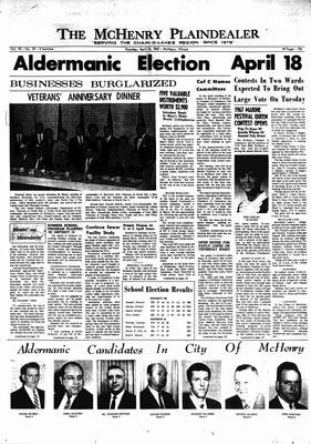 McHenry Plaindealer (McHenry, IL), 13 Apr 1967