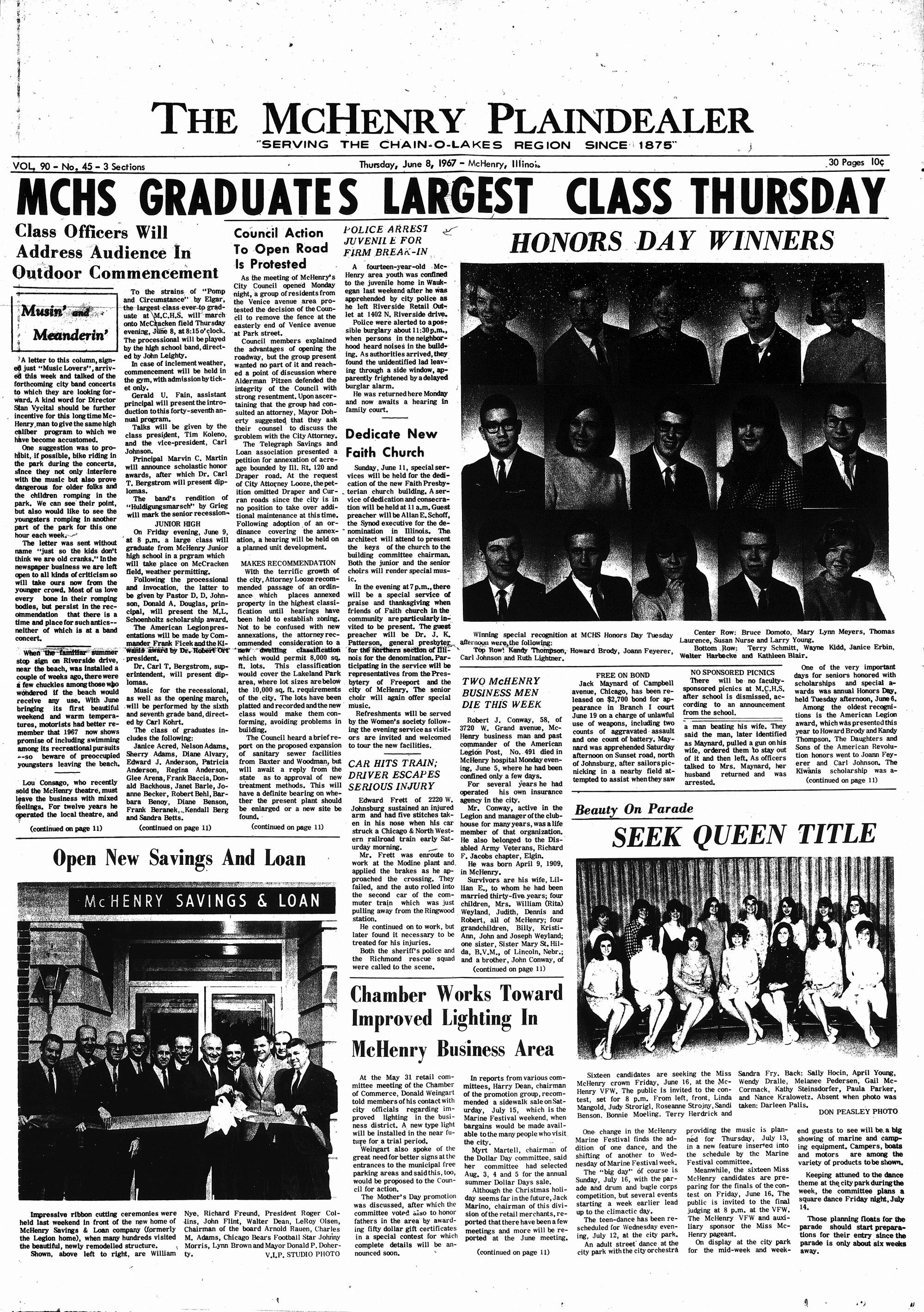 McHenry Plaindealer (McHenry, IL), 8 Jun 1967