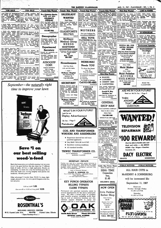 McHenry Plaindealer (McHenry, IL), 31 Aug 1967