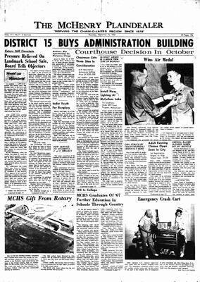 McHenry Plaindealer (McHenry, IL), 14 Sep 1967