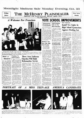 McHenry Plaindealer (McHenry, IL), 20 Oct 1967
