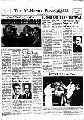 McHenry Plaindealer (McHenry, IL), 27 Oct 1967