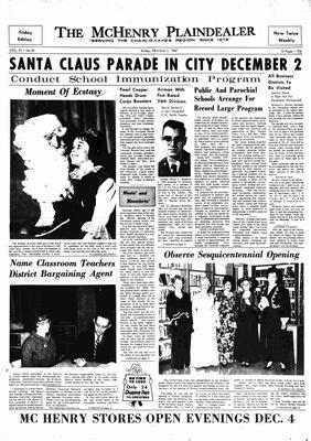 McHenry Plaindealer (McHenry, IL), 1 Dec 1967