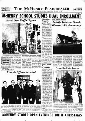 McHenry Plaindealer (McHenry, IL), 8 Dec 1967