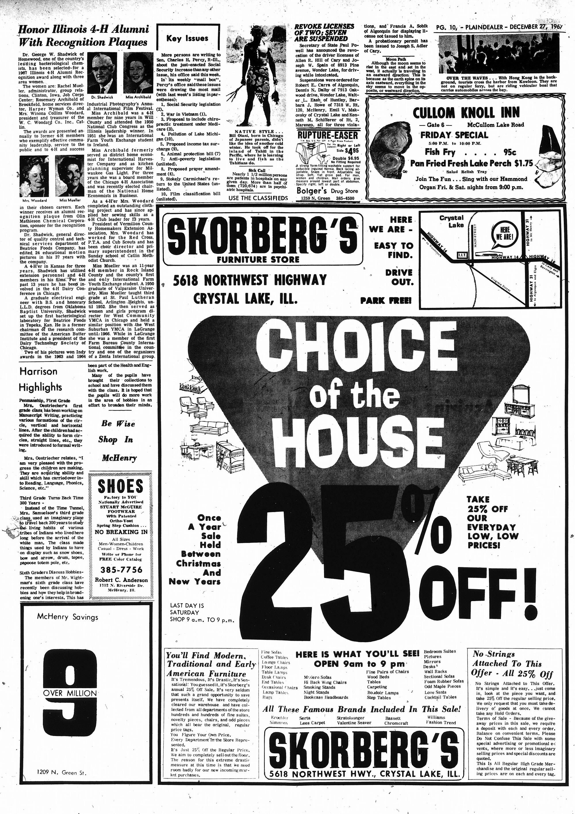 McHenry Plaindealer (McHenry, IL), 27 Dec 1967