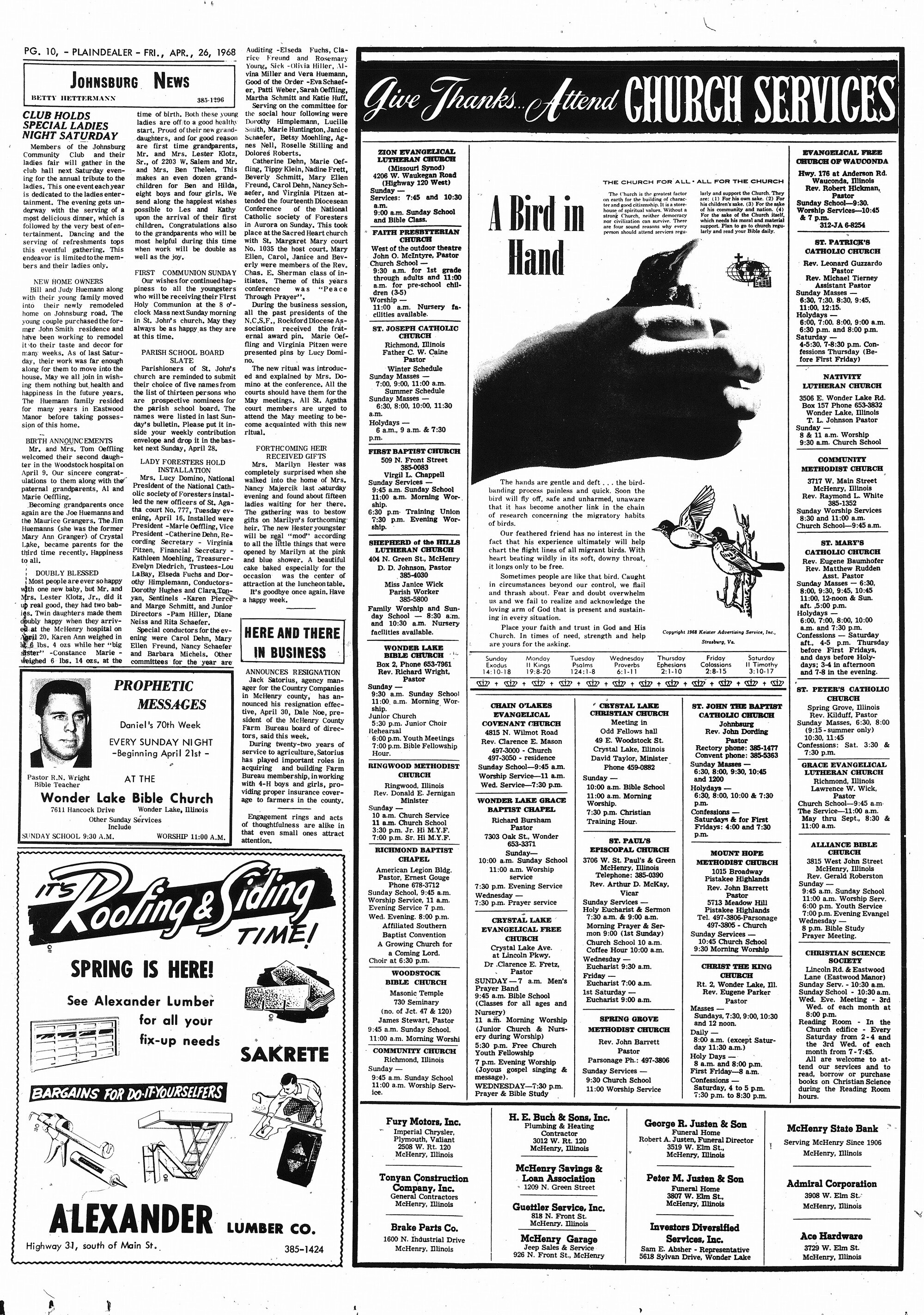 McHenry Plaindealer (McHenry, IL), 26 Apr 1968