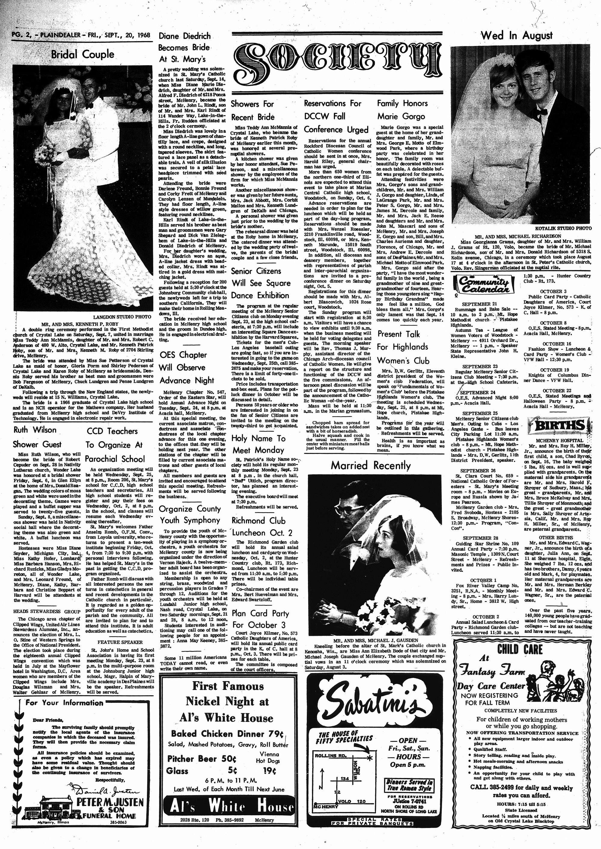 McHenry Plaindealer (McHenry, IL), 20 Sep 1968