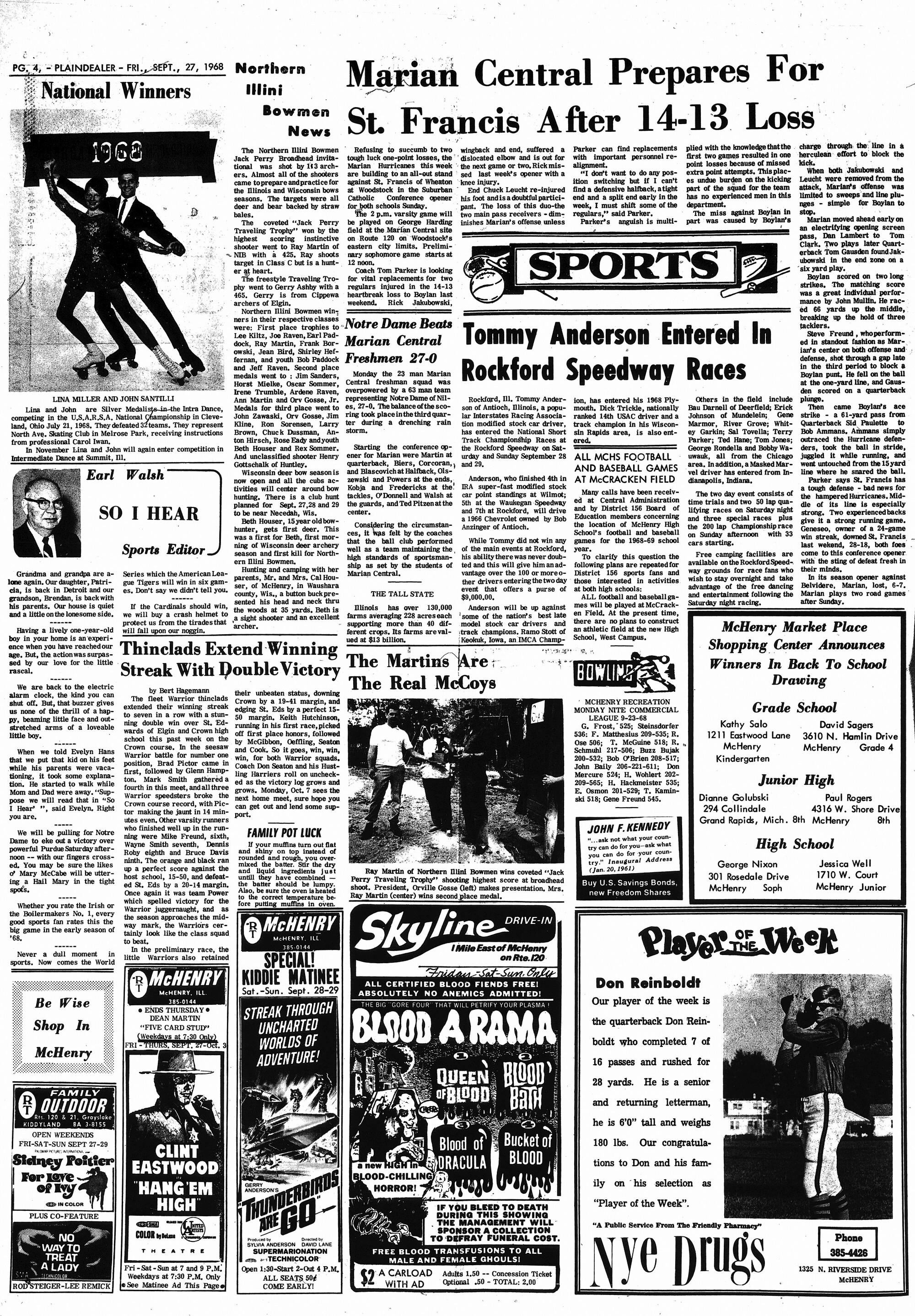 McHenry Plaindealer (McHenry, IL), 27 Sep 1968
