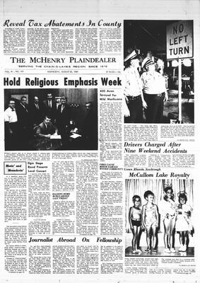 McHenry Plaindealer (McHenry, IL), 20 Aug 1969