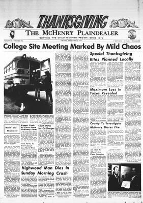 McHenry Plaindealer (McHenry, IL), 25 Nov 1969