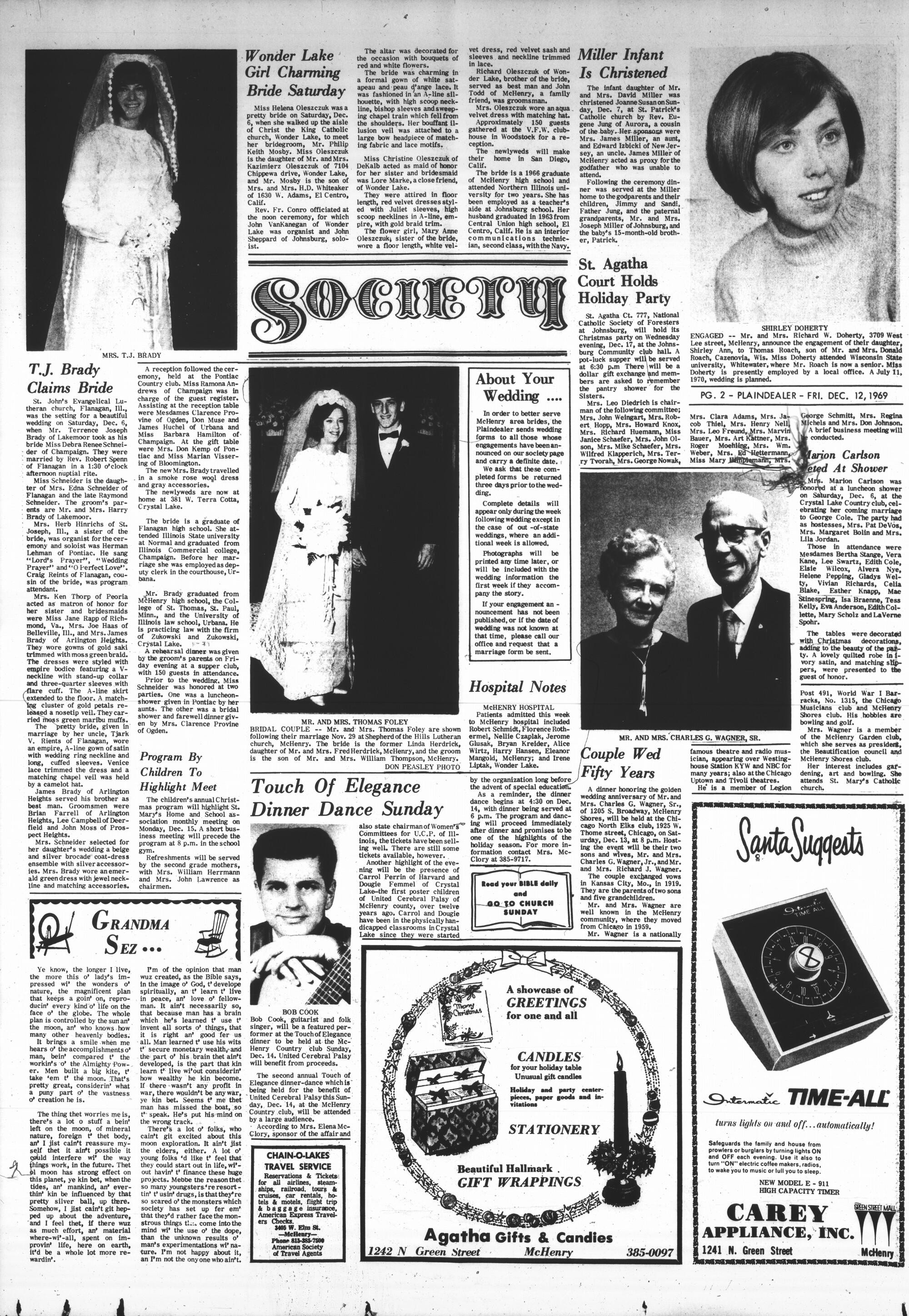 McHenry Plaindealer (McHenry, IL), 12 Dec 1969
