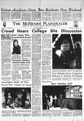 McHenry Plaindealer (McHenry, IL), 17 Dec 1969