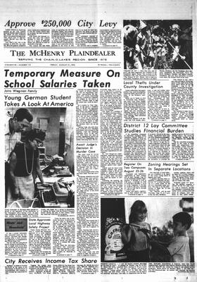 McHenry Plaindealer (McHenry, IL), 21 Aug 1970