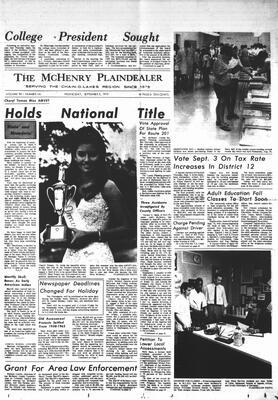 McHenry Plaindealer (McHenry, IL), 2 Sep 1970