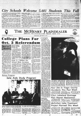 McHenry Plaindealer (McHenry, IL), 16 Sep 1970