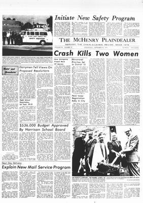 McHenry Plaindealer (McHenry, IL), 15 Sep 1971