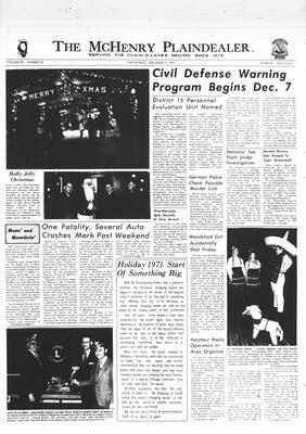 McHenry Plaindealer (McHenry, IL), 1 Dec 1971