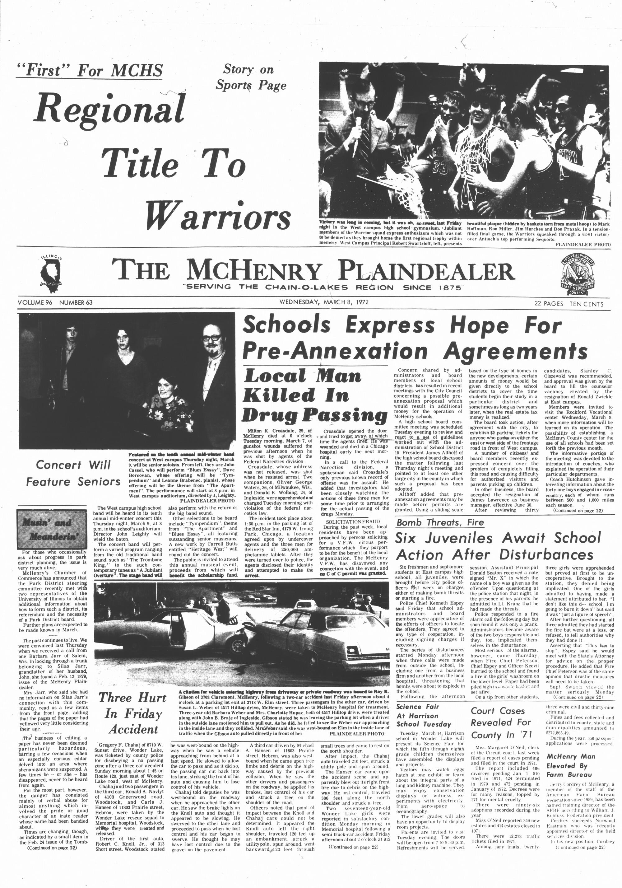 McHenry Plaindealer (McHenry, IL), 8 Mar 1972