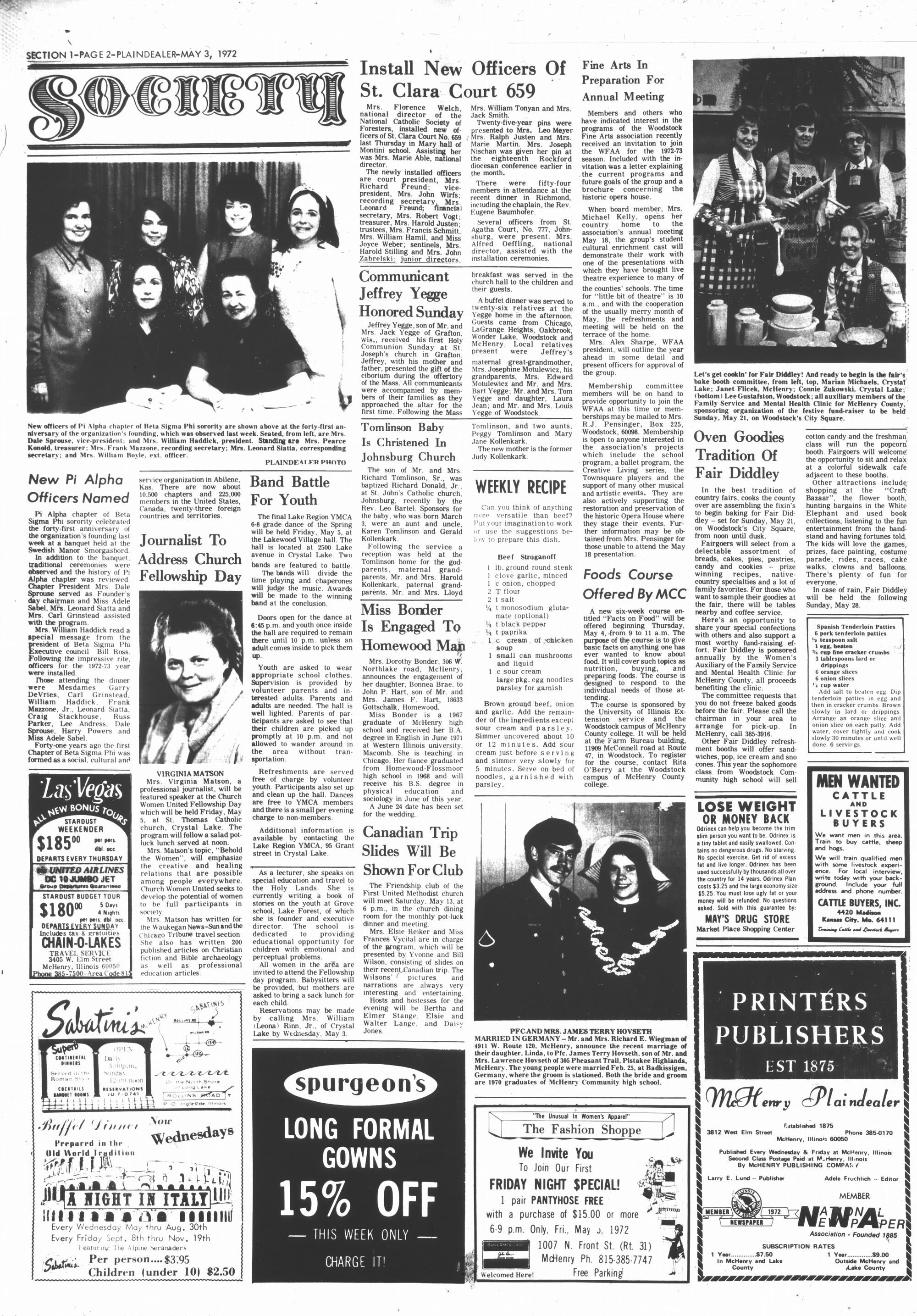 McHenry Plaindealer (McHenry, IL), 3 May 1972