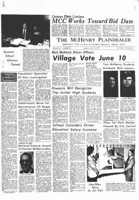 McHenry Plaindealer (McHenry, IL), 19 May 1972