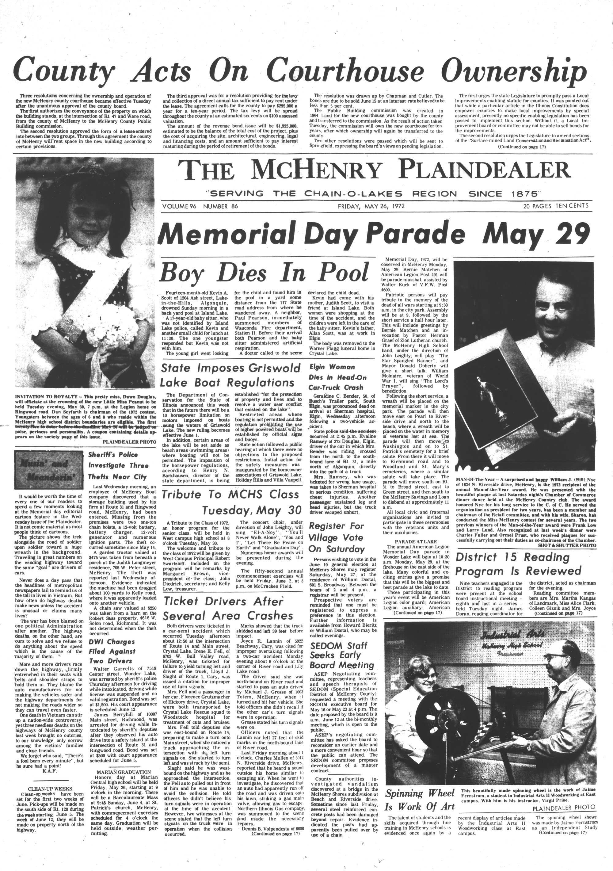 McHenry Plaindealer (McHenry, IL), 26 May 1972