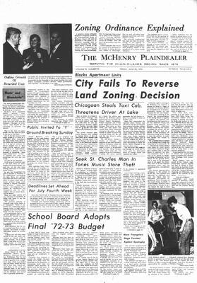 McHenry Plaindealer (McHenry, IL), 23 Jun 1972